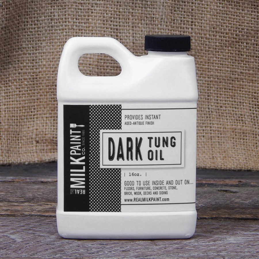 Aceite de Tung Oscuro the real milkpaint