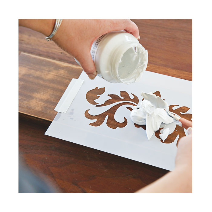 smooth embossing paste pearl2 - Smoot embossing paste - Pearl